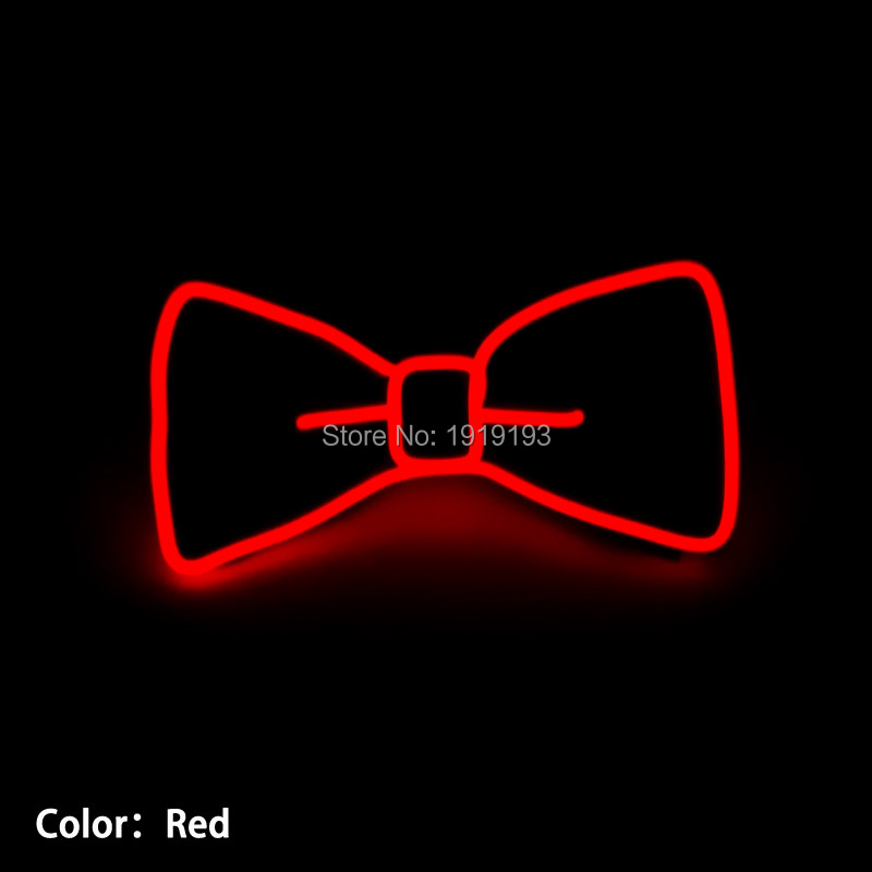 10 color choice fashion design blinking el wire light up led neon holiday lighting bowtie for - Blinking Led Christmas Lights