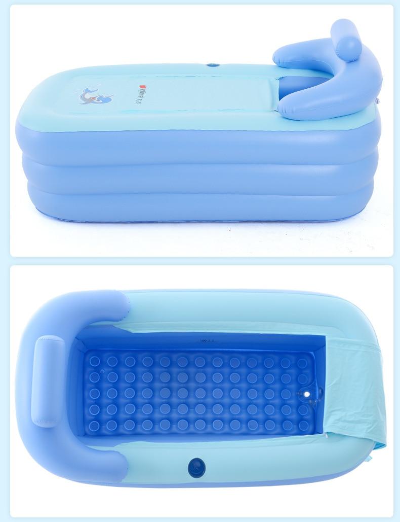 Adult Spa PVC Folding Portable Bathtub For Adults Inflatable Bath ...
