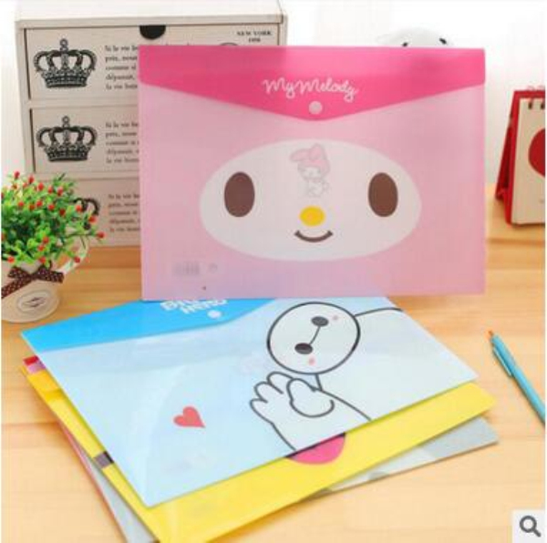 MQStyle Cute Cartoon Animals PVC A4 File Folder Document Filing Bag Stationery Bag H1373