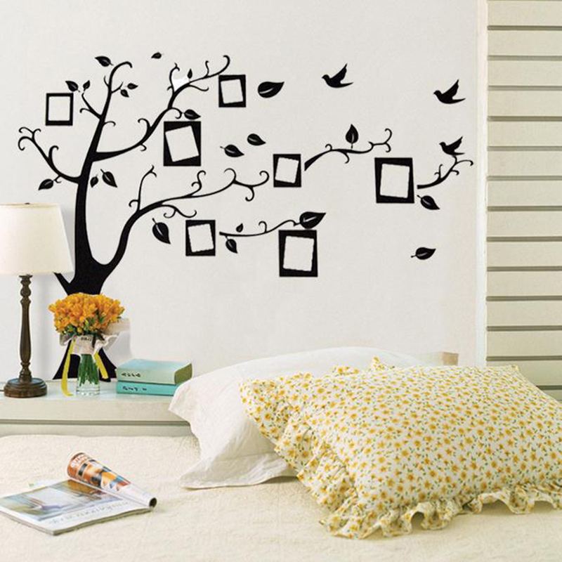 Wall stickers beautiful diy photo photo tree photo for Diy photographic mural