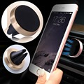 Magnetic Car Phone Holder Universal For iPhone 6 5 S Samsung Galaxy Huawei P9 Lite Aluminum + Silicone Car Air Vent Stand Mount