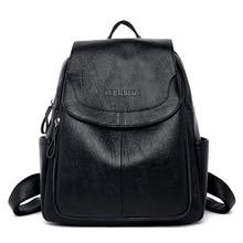Новая сумка, рюкзак для женщин, рюкзаки, кожаная Женская дорожная сумка через плечо для девочек-подростков, кошелек, рюкзак Mochila