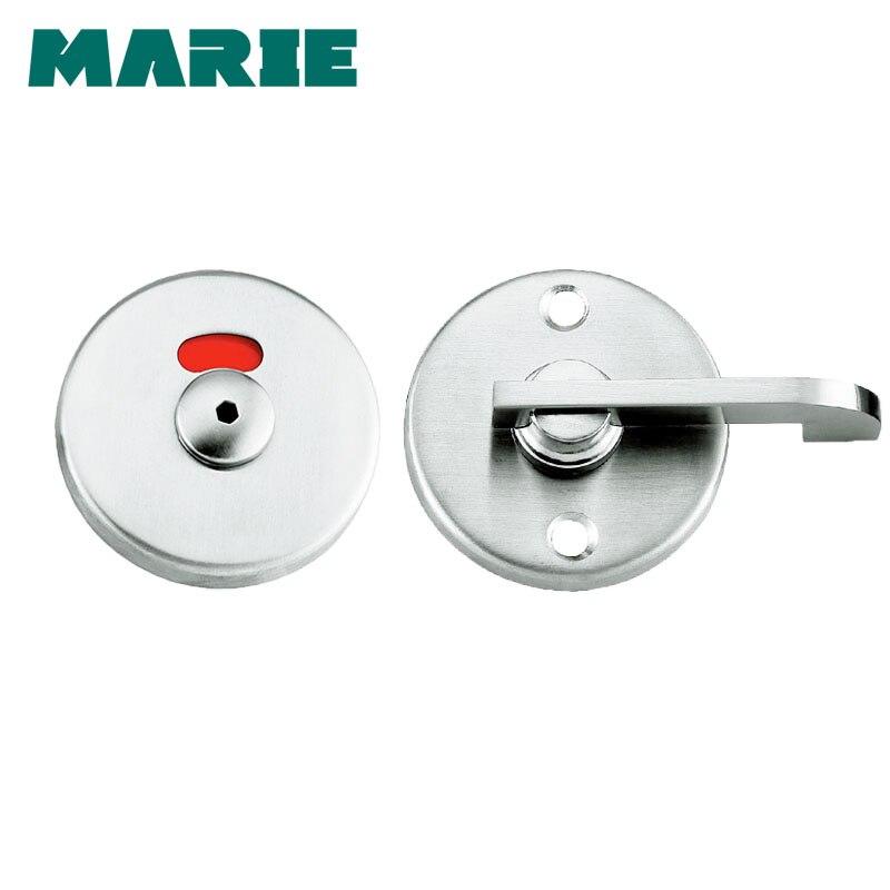 304 Stainless Steel Door Lock Instructions Public Restroom Toilet Partition Door Lock Vacant Engaged Indicator Bathroom цена 2017