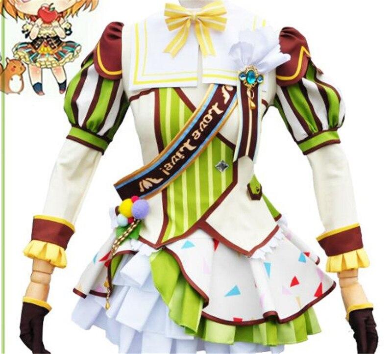 Japanese Anime Lovelike Rin Hoshizora Cosplay Costume Ice Cream Awakening Dress Hot Sale Beautiful Girl Clothing