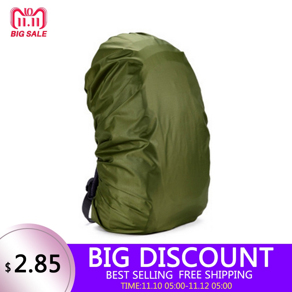 210D Rain Bag cover 80L Protable High Quality Waterproof Backpack Anti-theft Outdoor Camping Hiking Cycling Dust Rain Cover цена