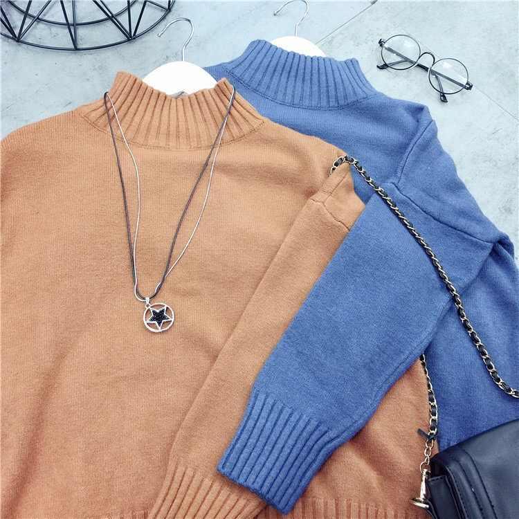 겨울 두꺼운 따뜻한 터틀넥 여성 핑크 스웨터 솔리드 캐주얼 여성 풀오버 한국어 블랙 레이디스 스웨터 화이트 당겨 femme