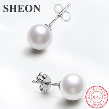New arrival 925 sterling silver natural freshwater pearl stud earrings female fashion jewelry Factory direct sales