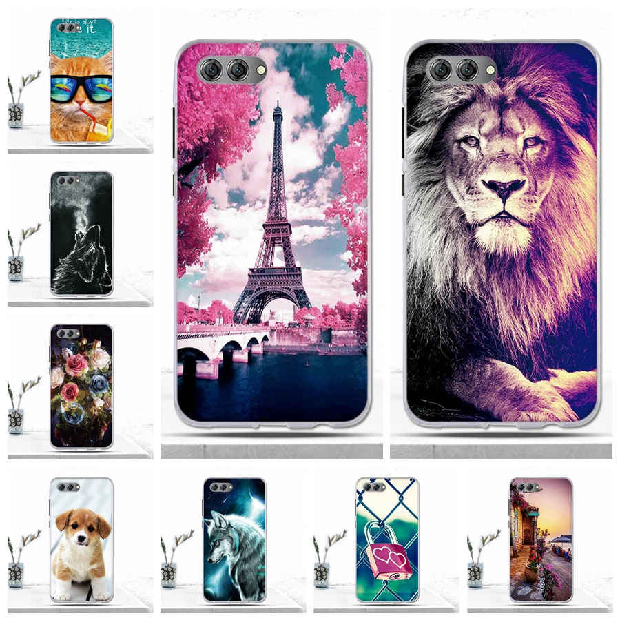 Case for Huawei Nova 2S 2 S Nova2S Case Coque Soft TPU Animal Luxury Silicon Back Cover Phone Case for Huawei Nova 2S Cover Bags