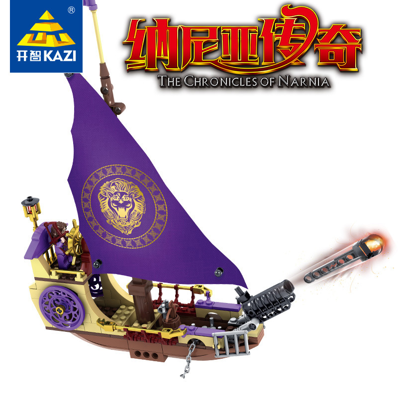 KAZI Building Blocks K87021 927pcs Chronicles Narnia Model Building Kits Model Toy Bricks Toys Hobbies Blocks kazi 608pcs pirates armada flagship building blocks brinquedos caribbean warship sets the black pearl compatible with bricks