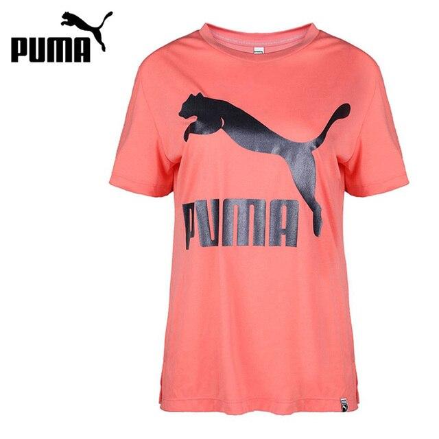 d9d69b3ed Original nueva llegada 2018 PUMA clásicos Logo Tee de las mujeres camisetas  de manga corta ropa