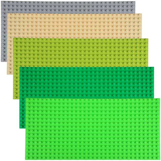 Wange ladrillos grandes bloques de construcción de la placa base 51*25.5 cm/32*16 puntos placa base compatible con los principales marca bloques diy ladrillos de juguete