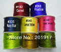 100% Nylon Cord ! 2mm Add Gold Line Thread Macrame Rope Cords-100yards/ Roll Chinese Knot Beading Cord-DIY Jewelry Accessories