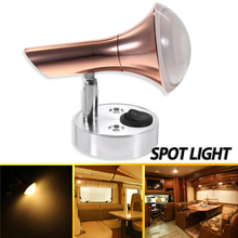 цены LED Wall Lamps Wall Mount Spot Light Bedside bedroom Reading Book lampada 12V  RV Camper Trailer Boat Wall Sconces Light arts