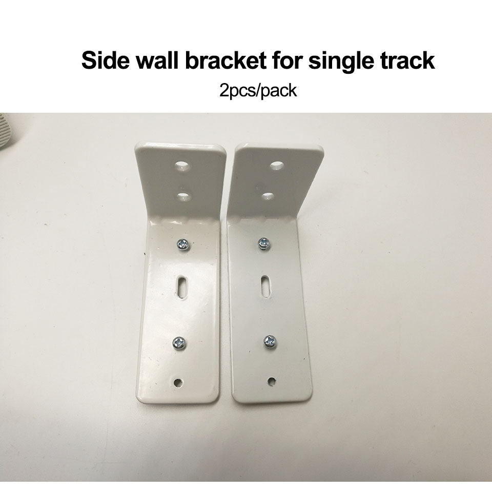 Side Wall Mounting Bracket For Electric Automatic Curtain Track Pole,Single Track Bracket For Dooya Curtain Rails Window Rod