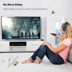 Image 4 - Avantree Lange Afstand Draadloze Hoofdtelefoon Voor Tv Kijken Met Bluetooth Zender, Ondersteunen Optische, Rca, 3.5Mm Aux, Plug & Play
