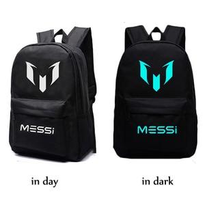 Image 4 - Messi sac à dos lumineux de nuit, sacoche de voyage barcelone, pour garçons et filles, pour enfants et adolescents