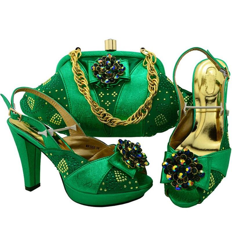 Champagne green Dames Et Strass Italien blue Chaussures Femmes purple Avec De Orange vin Nouveauté argent En Africain Correspondant Rouge Sacs Décoré orange Ensemble 1qtZAvxpw