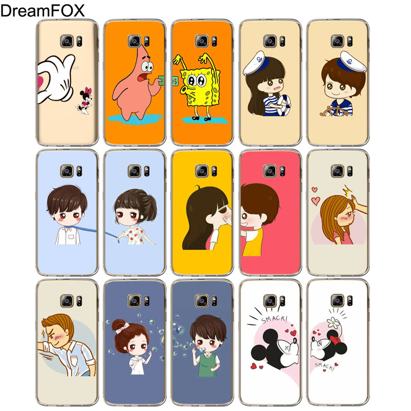 DREAMFOX M507 Heart Couples Soft TPU Silicone Case Cover For Samsung Galaxy Note S 5 6 7 8 9 10 10e Lite Edge Plus Grand Prime in Fitted Cases from Cellphones Telecommunications