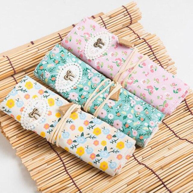 8 Slots Printing Canvas Crochet Hook Knitting Needle Pencil Craft