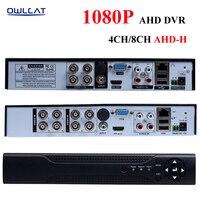 OWLCAT 4Channel CCTV Security AHD DVR Video Recorder Full HD 1080P H 264 P2P 4CH 8CH