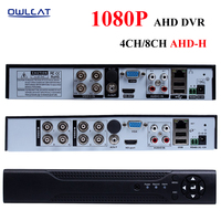OWLCAT 4Channel CCTV Security AHD DVR Video Recorder Full HD 1080P H 264 P2P 4CH 8CH