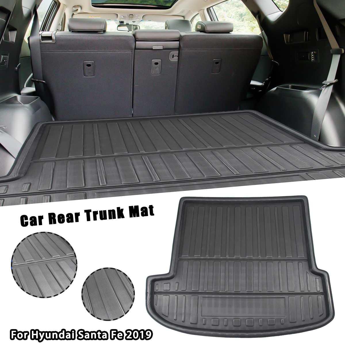Car Tray Boot Liner Cargo Rear Trunk Cover Matt Mat Boot Liner Floor Carpet Mud Non-slip For Hyundai Santa FE 2019 2020