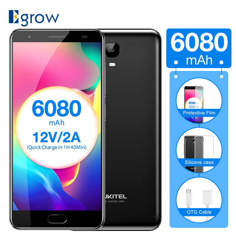 Original Oukitel K6000 Plus Fingerprint 4G LTE Mobile Phone MTK6750T Octa Core Smart Phone 5.5 1920x1080 4GB RAM 64GB ROM 16MP
