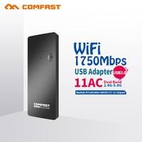 COMFAST Gigabit Usb Wifi Adapter 1750mbps 11AC PC Wifi Receiver High Power Wifi Antenna Portable AP