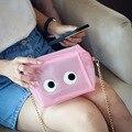 Хрустальные глаза сумки розовый милый маленький Прозрачный Мешок Оранжевый Сумки Furly Конфеты Сумки Пластиковые Женщины Желтый Многоцветный Известный Бренд