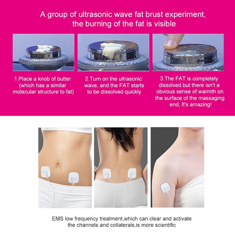 Image 2 - Ultrasound Cavitation EMS Body Slimming Massager Weight Loss Anti Cellulite Fat Burner Galvanic Infrared Ultrasonic Wave TherapyFace Skin Care Machine   -