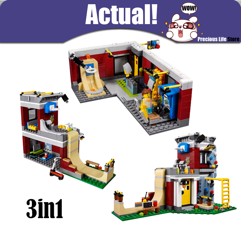 LEPIN Creator Technic Module skating room 24042 473PCS Building Blocks Bricks educational toys for children brinquedos 31081
