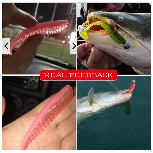 MEREDITH Awaruna Fishing Lures 8cm 9.5cm 13cm Artificial Baits Wobblers Soft Lures Shad Carp Silicone Fishing Soft Baits Tackle 5