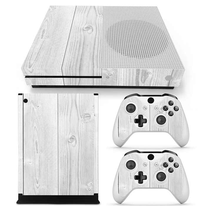Wood Design Protective Vinyl Customize Cover Skins Sticker for Microsoft Xbox One S Console Controllers