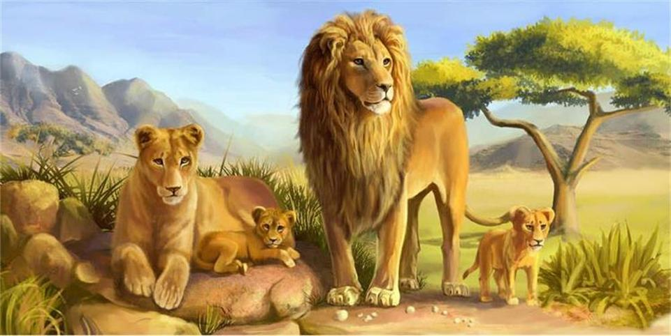 3D wallpaper custom photo wall paper Only beautiful prairie a lion king TV sofa Bedding