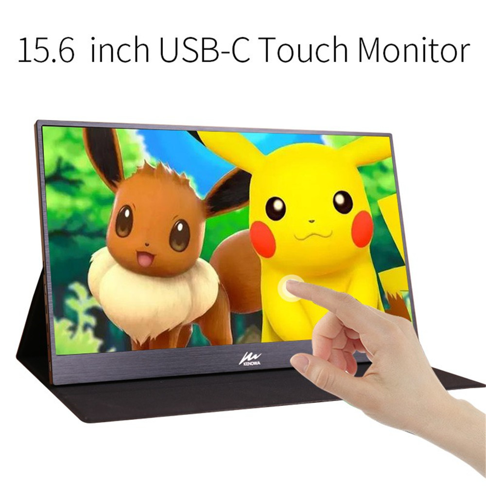 New 15.6 Inch Touchscreen Portable Monitor With 2 Type-C USB-C Mini HDMI Port For PS3/PS4 Xbox 360 1920x1080 IPS Touch Monitor