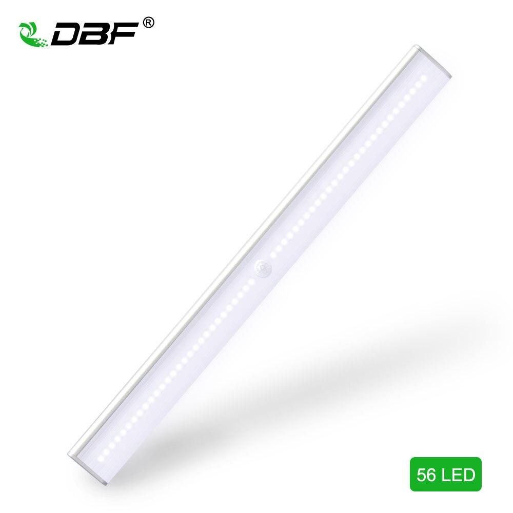DBF USB Rechargeable 56 LED Placard Lumière, bâton-sur N'importe Où La Nuit Lumière, 4 Mode Commutateur Li-Batterie Exploité Lumière, Éclairage de sécurité