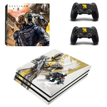 Game Destiny 2 PS4 Pro Skin Sticker Sony PlayStation 4 Pro Console and Controllers for Dualshock 4 PS4 Pro Stickers Decal
