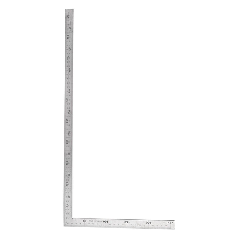 Werkzeuge Mess & Messwerkzeuge Edelstahl 25x50 Cm 90 Grad Winkel Versuchen Quadrat Herrscher Messen Werkzeug Profitieren Sie Klein