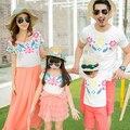 Семьи соответствующие наряды мать и дочь соответствующие платье мода семья одежда отец сына одежды семья одежда CP13