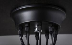 Image 5 - Люстра в стиле ретро, современные белые/черные люстры с 6 16 рычагами, Регулируемая лампа Эдисона E27, Арт, потолочный светильник паук