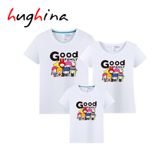 Hughina 14 Colors Good Family Animal cotton matching clothes for couples family look father son mother T-shirts fashion kid 1616
