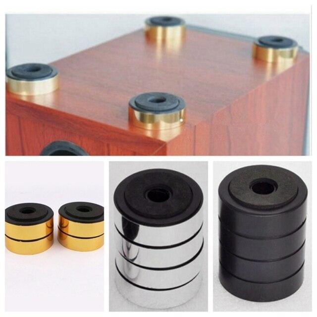 4 pcs 48 milímetros Isolamento Mats Pés Para Móveis Mesa de Alta Fidelidade de Áudio Não-slip Mat Decorativa Stand Pad QDD9255