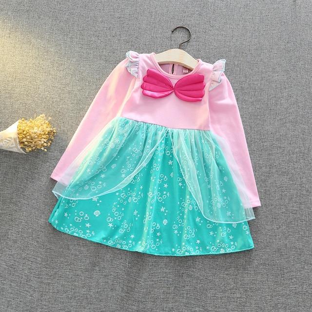5aa19309b2 Traje de Año Nuevo para niña Vestido de manga larga carnaval disfraz niños  sirena Cosplay ropa