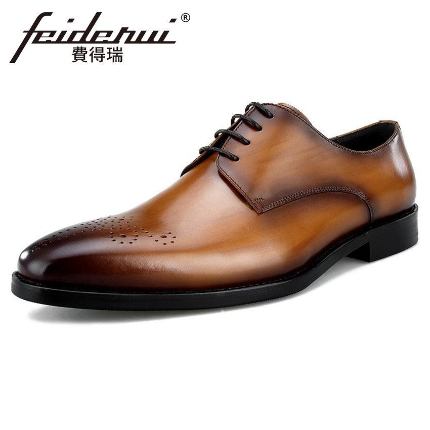 Zapatos Hombre Diseñador Derby Bql185 Calzado marrón A Negro Vestir De Del Tallado Toe Hombres Genuino Hecho Formal Verano Cuero 2018 Boda Ronda La Mano qx1UZ1TE