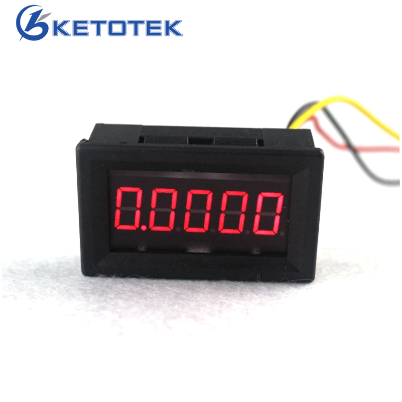 5 Digit 0.36 DC 0-33.000V Digital Voltmeter Red Led Volt Panel Meter DC Voltage Detector 5pcs dc 6 12v measuring range 2 wire connect red led digit voltmeter
