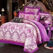 2018 NEW Hot!Free Shipping 5 Types Luxury Royal Palace Satin Silk Jacquard 4PCS BEDDING SET Velvet Bedclothes bedsheet BED SETS