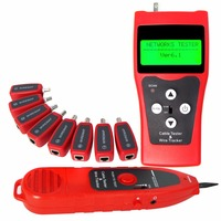 Multipurpose Digital Ethernet Network Cable Tester LAN Telefone Cable Tracker USB Coaxial com 8 Far-end Jacks