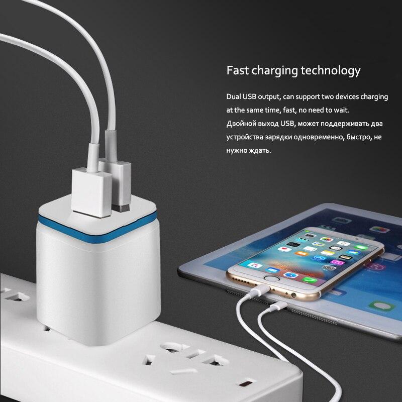 Image 2 - 5 в 2.1A двойной usb порт США ЕС вилка AC настенное зарядное устройство авто быстрый адаптер для зарядки для iPhone X 7 8 XS Xsmax samsung huawei P30-in ЗУ для мобильных телефонов from Мобильные телефоны и телекоммуникации