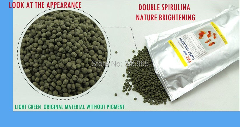 Double spirulina Ranchun fish food high protein nature material for wholesale