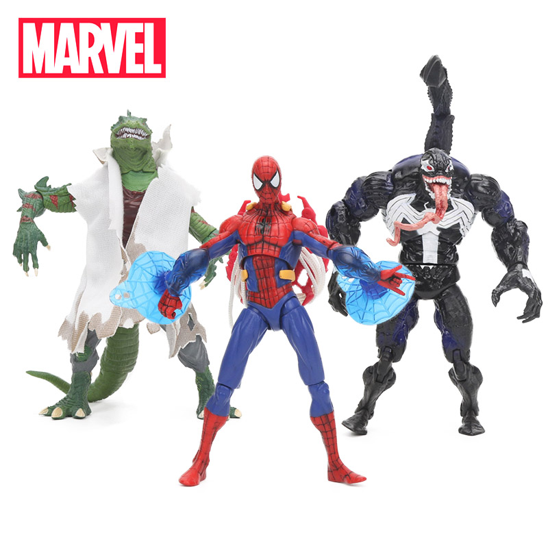 18cm Marvel Toys Spider-Man Venom Lizard Carnage PVC Action Figure Spiderman Figures Superhero Collectible Model Doll Toy the flash man aciton figure toys flash man action figures collectible pvc model toy gift for children